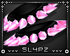 !!S Spike Cuff Set Pink