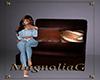~MG~ LeatherWood Chair