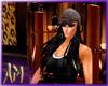 (AM) HAT HAIR BLACK SARA
