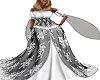 Medieval Gown Blk/White