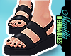 ! Ink Black Sandals
