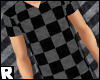-R> Checker Tee #Grey