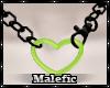 ⛧: Heart Chain Green F