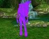 purple neon face