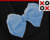 Blue Bow Hair Clip - L