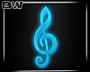 DJ Blue Teal Neon Music