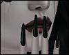 \/ Long Black Nails