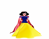 snow white gown withCape