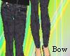 [B] Skinny denim pants