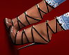 ( strapped heels )