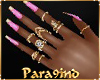 P9)Pink Gold nails Rings