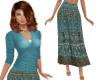 TF* BOHO Midi Skirt Blue