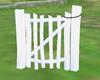 white farm gate