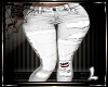 White Jeans Patchwork L