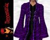 Retro Goth Coat PURPLE