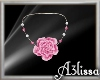 *MA*Pink flower necklace