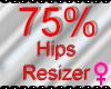 *M* Hips Resizer 75%