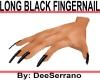 LONG BLACK FINGERNAILS