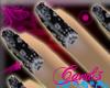 *CK*black paisley nails