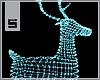 S. Lighted Deer Blue