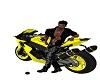 moto suzuki jaune