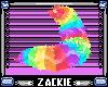 rainbow fluffy tail