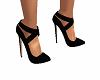 Black Spike Heel Pumps