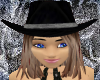 Midnight Cowgirl Hat BR2
