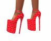 High heels china red