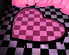 Heart Table Pink Black