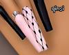 q! cutest black nails
