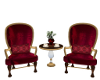 Red Velour Coffee Chat