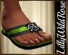 LWR}Beach Sandals Green