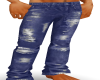 mens torn blue jeans