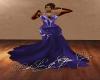 DarkPurple Glitter Gown