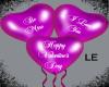Purple Valentine Balloon