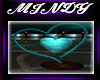 TEAL HEART HUG KISS