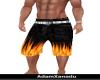 flaming shorts