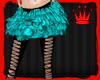 Aqua Feather Skirt