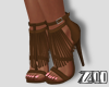 [zuv]shoes fringe brown