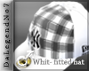 [BE] White fitted hat