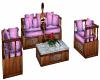Cherry Wood Sofa Set
