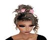 Pink flwr/ blonde updo