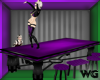 PVC Dancer Table Purple