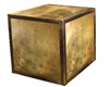 copper/bronze cube/crate