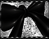 B! PVC Black Hair Bow