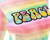 Rainbow Peace Top Female