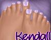 *KT* Feet Purple Nails