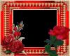 red n gold rose frame