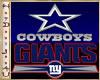 ~H~Giants Cowboys Decor